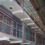Penitentiary cellblock. The West Virginia State Penitentiary (now closed). Once held Charles Manson.