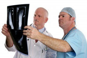 Independent Medical Examination Doctors Examining Xrays