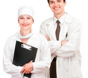 male and female doctor